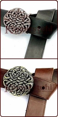"Buckle-Langgürtel ""Celtic Knots"" (4,0 cm)"