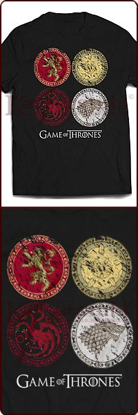 "Game Of Thrones T-Shirt ""House Crests"""