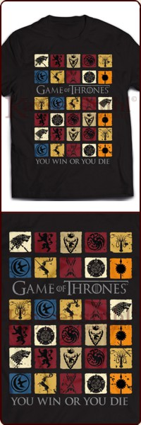 "Game Of Thrones T-Shirt ""Coloured Squares"""