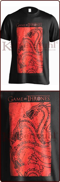 "Game Of Thrones T-Shirt ""Targaryen Fire And Blood"""