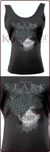 "Game Of Thrones Tank Top ""Stark Houses"""