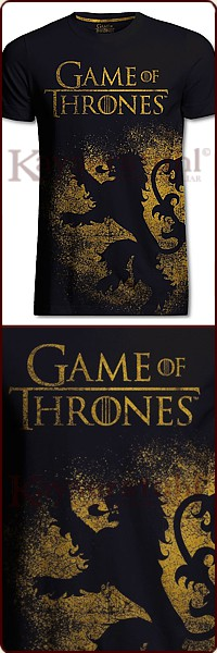"Game Of Thrones T-Shirt ""Lannister Jumbo Print"""