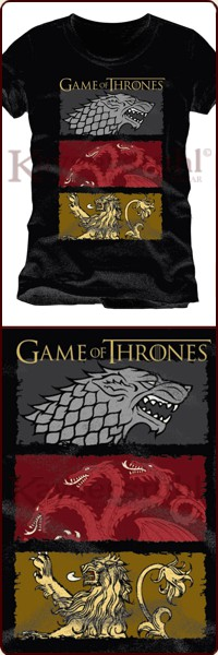 "Game Of Thrones T-Shirt ""Stark Charcoal"""