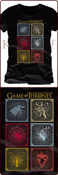 "Game Of Thrones T-Shirt ""Badges Of The King"""