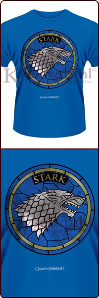 "Game Of Thrones T-Shirt ""House Stark Blue"""