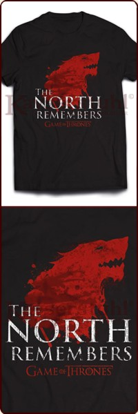 "Game Of Thrones T-Shirt ""North Remembers"""