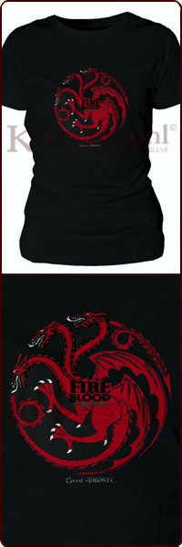 "Game Of Thrones Girlie-Shirt ""Targaryen Fire And Blood"""
