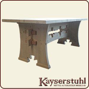 kayserstuhl mittelalterliche tische amp b nke. Black Bedroom Furniture Sets. Home Design Ideas