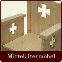 Mittelalterliche möbel selber bauen  KAYSERSTUHL - MITTELALTERLICHE TISCHE & BÄNKE