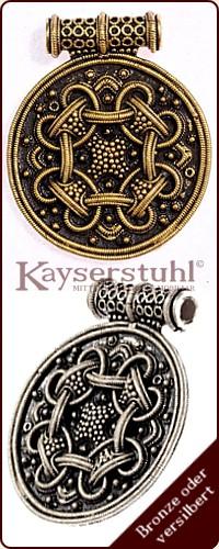 Antiquitäten & Kunst Hiddensee Thor Hammer Wikinger Designer Brosche Aus Vergoldetem 835 Silber