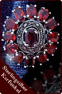 "Mittelalterlicher Ring ""Le Rouge"" (Silber)"