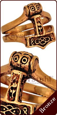 "Ring ""Thors Hammer"" (Bronze)"