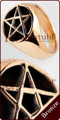 "Ring ""Pentagram"" (Bronze)"
